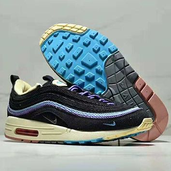 NIKE Air Max 1/97 VF SW Men Fashion New Contrast Color Splice Sports Leisure Air Cushion Leisure shoes