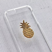 Gold Pineapple Fruit Clear Transparent iPhone 5c Apple Case Cover Protector Hard Exotic Plastic:Amazon:Cell Phones & Accessories