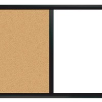 """Board Dudes 24"""" x 36"""" Black Painted Magnetic Dry Erase/Cork Combo Board (CYG01)"""