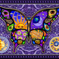 Celestial Butterfly - Purple - Tapestry