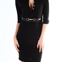 Demi Black Shirt Dress