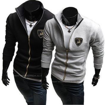 Men Hoodies Embroidery Casual Jacket [6528702723]