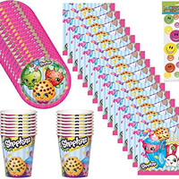 Shopkins Birthday Party Pack for 16 Guests (68 Pieces)