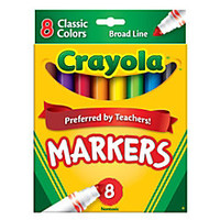 Crayola Broad Line Markers Assorted Classic Colors Pack Of 8 by Office Depot & OfficeMax
