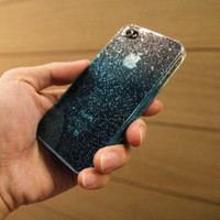 water drop case for iphone 4s/4 (blue)