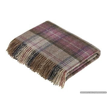 Shetland Quality - Pure New Wool - Throw Blanket - Stroud Heather - Bronte by Moon