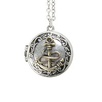 LOVEsick Love Anchors The Soul Locket Necklace