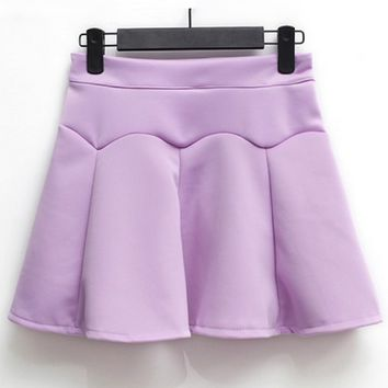 Easy Pleated A-line Skirt - OASAP.com
