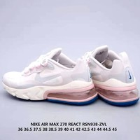 NIKE AIR MAX 270 REACT men and women cushioning cushion sneakers