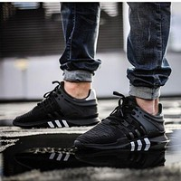 Adidas EQT Equipment Support ADV Primeknit Black Sprot Shoes Running Shoes Men Women Casual Shoes