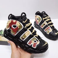 """Nike Air More Uptempo """"Black Camo"""" Toddler Kid Shoes Child Sneakers - Best Deal Online"""