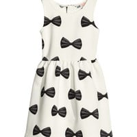 H&M - Patterned Dress - White - Kids