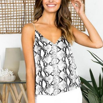 Tempe Snakeskin Camisole Top