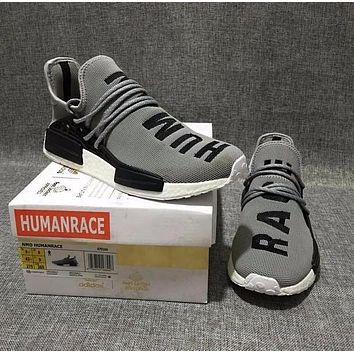 Pharrell Williams x Adidas Consortium NMD Human Race Grey Sport Running Shoes Classic Casual Shoes Sneakers