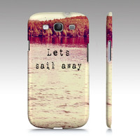 """Samsung Galaxy S3 Covers  """"Let's Sail Away"""" - $35.00 - Handmade Accessories, Crafts and Unique Gifts by Vintage Skies Photography & Designs"""