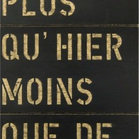 Je T'aime Hand Painted Antique Sign