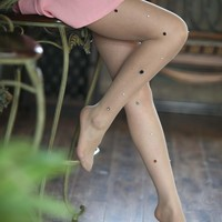 Point drill bead any cut silk stockings pantyhose