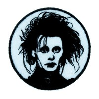 Edward Scissorhands Patch Iron on Applique Gothic Clothing Classic Movie Tim Burton