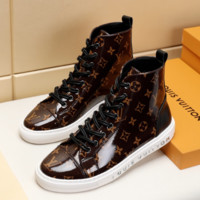 Brown Classic LV LOUIS VUITTON Leather Shoes