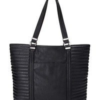 FOREVER 21 Ribbed Faux Leather Tote