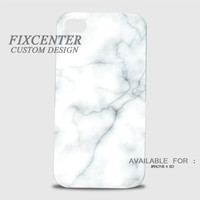 White Marble Pattern 3D Image Cases for iPhone 4/4S, iPhone 5/5S, iPhone 5C, iPhone 6, iPhone 6 Plus, iPod 4, iPod 5, Samsung Galaxy (S3, S4, S5, S6) by FixCenters