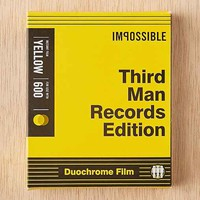 Impossible Third Man Record Edition Black And Yellow Polaroid 600 Instant Film