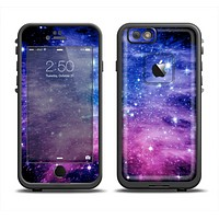 The Purple and Blue Scattered Stars Apple iPhone 6 LifeProof Fre Case Skin Set