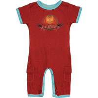Journey Boys' Romper Red Rockabilia