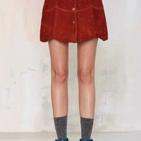 Nasty Gal Bobby McGee Suede Skirt