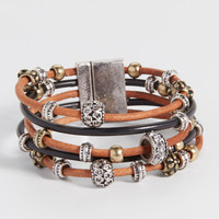 magnetic bracelet with beading   maurices
