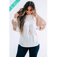 Weekend With The Girls Top: Ivory/Gold