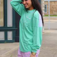 LAUREN JAMES: Beachcomber {Seafoam/Palm}