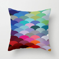 Scale Spectrum Pillow Cover in Cool