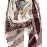 BP. Fringe Trim Plaid Oblong Scarf | Nordstrom