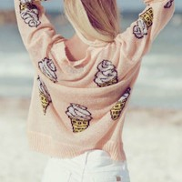 Wildfox Couture Soft Serve Holiday Sweater in Peaches