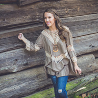 Double Date Top in Taupe