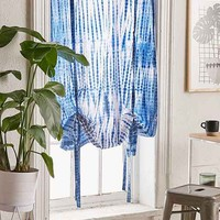 Shibori Stripe Draped Shade Curtain