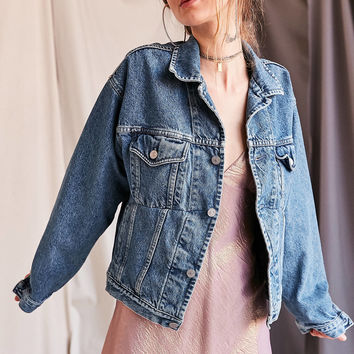 Urban Renewal Recycled Seamed Denim Trucker Jacket | Urban Outfitters