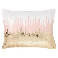 Sequin Ikat Pillow Cover