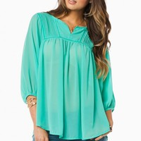 THANIA BLOUSE IN MINT