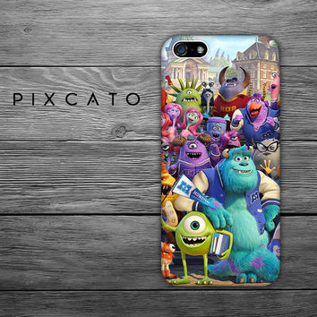Mike, Sulley and Friends - Disney Monster University 05  - Iphone Case, Hard Plastic, FREE Shipping Worldwide