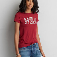 AEO Soft & Sexy NYC Easy T-Shirt, Red