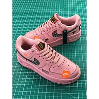 Nike Air Force 1 Low Af1 Just Do It Prm Jdi Pink Women Sport Shoes