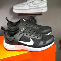 HCXX N1455 Nike 2019 Mesh Low Breathable Light Sport Casual Running Shoes Black