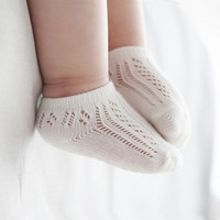 New Born Boy Girl Baby Socks Cotton Summer Mesh Socks Casual Meias Infantil Socks Summer Style Kids Clothes Accessories