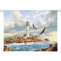 Pure Country Weavers Boston Lighthouse Tapestry - 2464-WH