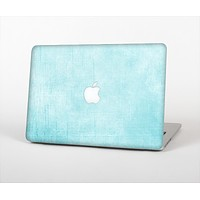 The Vintage Blue Textured Surface Skin Set for the Apple MacBook Pro 13""