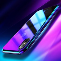 FLOVEME For iPhone X 10 2017 Blue Ray Case For iPhone 8 7 Plus Phone Cases Luxury Gradient Aurora Cover For Apple iPhone X Coque