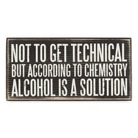 Primitives by Kathy 'Alcohol Is a Solution' Box Sign