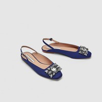 BEJEWELLED SLINGBACK SHOES